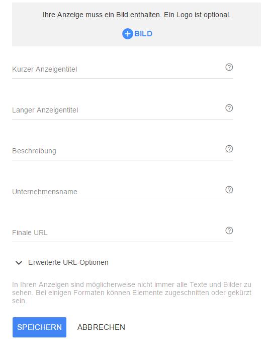 Einrichtung Responsive Ads Google AdWords Displaynetzwerk