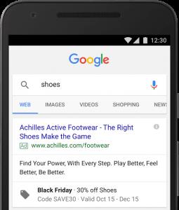 Angebotserweiterung Promotion Extensions Google AdWords