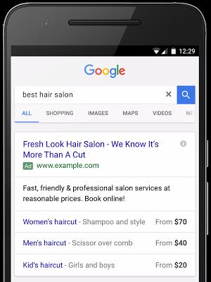 Price Extensions Preiserweiterung für Google AdWords